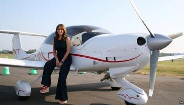 Carol Vorderman solo flight plans