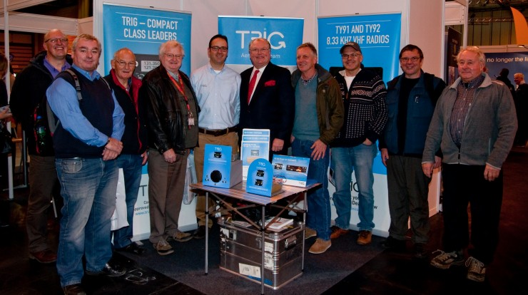 Flying for Freedom patron Lord Digby Jones visits Trig stand at NEC