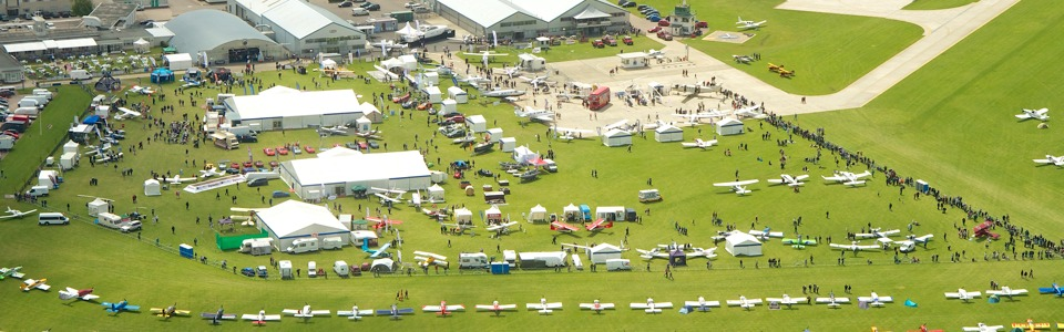 Aerial view of AeroExpo UK