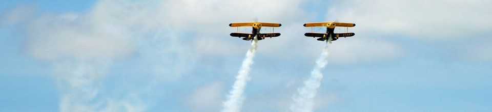 Aerobatic display acts at AeroExpo UK