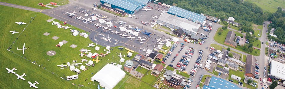 AeroExpo UK at Wycombe Air Park - an aerial view