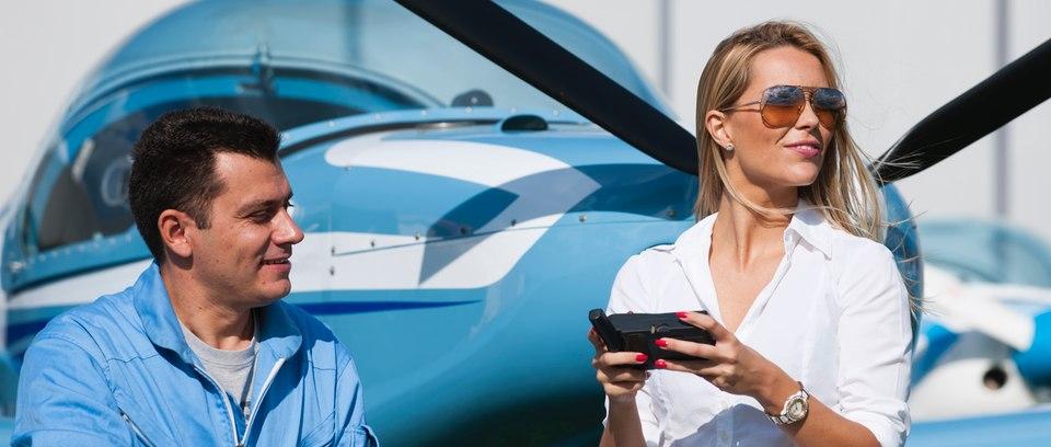 Aviator couple at AeroExpo UK