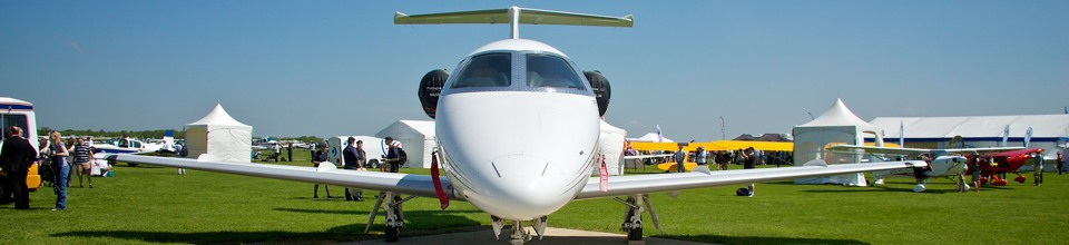 Business Jet at AeroExpo UK