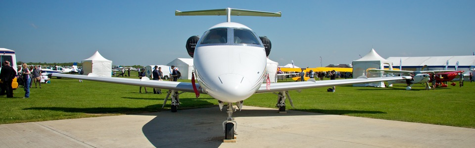 Business Jets on Static Display