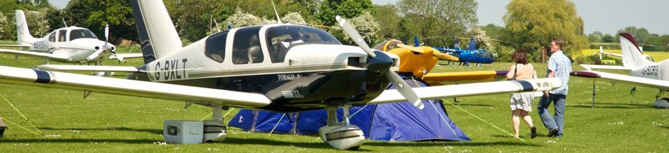 Camping under-wiing at AeroExpo UK