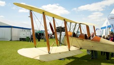 Classic aircraft on display at AeroExpo UK