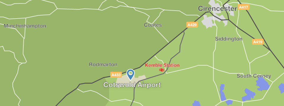 Cotswold Airport location map