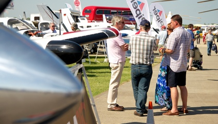 Family at AeroExpo UK