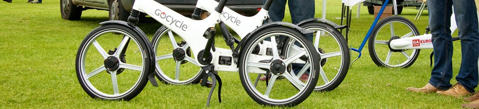 Gocycle at AeroExpo UK
