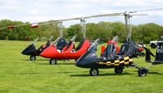 Gyrocopters at AeroExpo UK