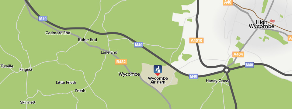Location map - AeroExpo UK at Wycombe Air Park