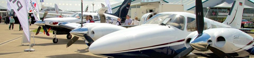 Aircraft on static display at AeroExpo UK
