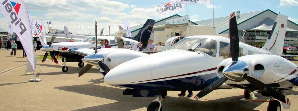 Aircraft on static display at AeroExpo UK
