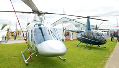 Helicopters at AeroExpo UK