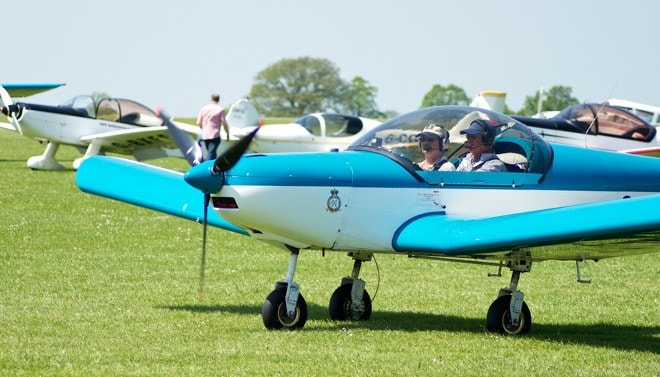 Arriving by air to AeroExpo UK