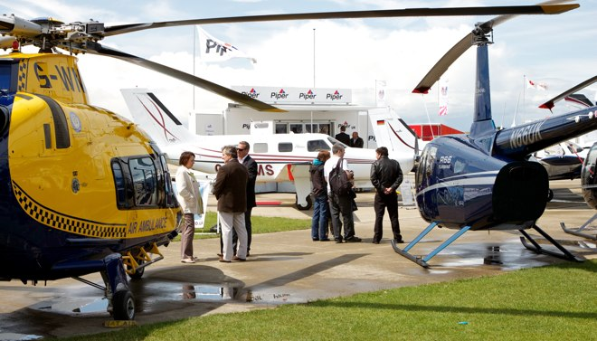 Static display area at AeroExpo UK