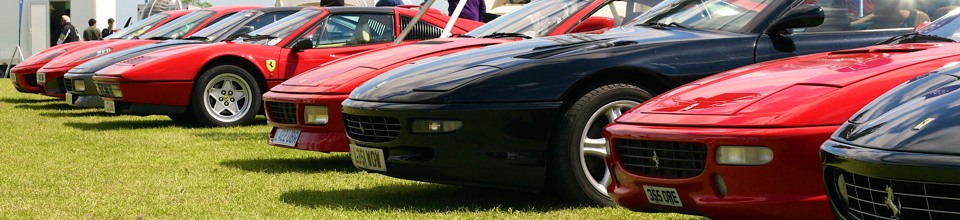 Ferraris at AeroExpo UK