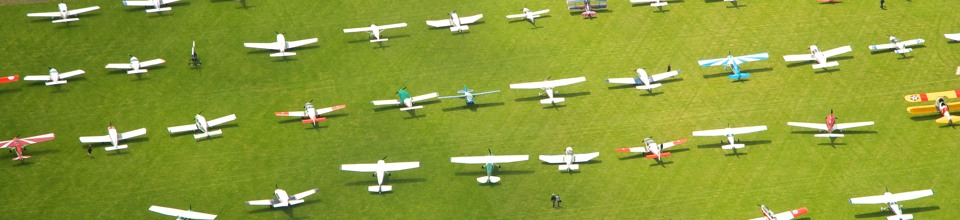 Parked aircraft at AeroExpo UK