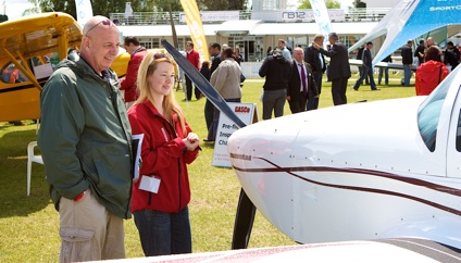 Visitors at AeroExpo UK