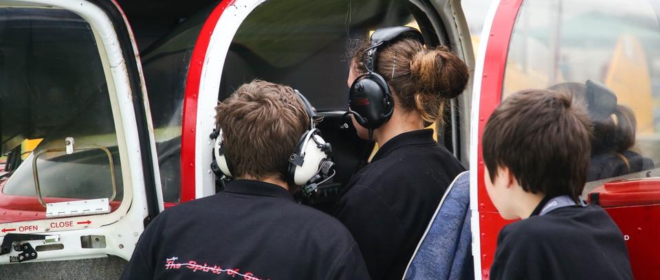 Young pilots at AeroExpo UK